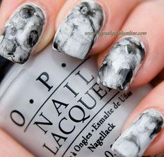 Watercoloured nails