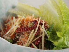 Get Nam Kao: Lao Crispy Fried Rice Ball Salad Recipe from Food Network