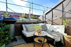 Dachterrasse gestalten - Ideen für Dachloggia im Schrägdach
