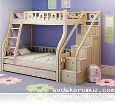 Cool Kids Bunk Beds With Stairs wooden bunk beds with - Home Design Full Size Bunk Beds, Bunk Beds For Girls Room, Adult Bunk Beds, Wooden Bunk Beds, Metal Bunk Beds, Cool Bunk Beds, Kids Bunk Beds, Loft Beds, Child Room