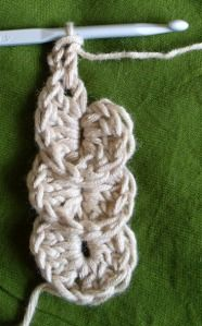 Crocodile stitch is sometimes just TOO much. This is a nice application -- just a column for a lariat, necklace or scarf.