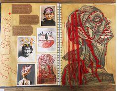 Art Sketchbook Ideas: Creative Examples to Inspire High School Students A Level Art Sketchbook, Sketchbook Layout, Textiles Sketchbook, Arte Sketchbook, Sketchbook Inspiration, Fashion Sketchbook, Sketchbook Ideas, Artist Research Page, Art Sketches