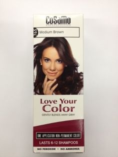 Cosamo Love Your Color  Hair Color 765 Medium Brown (Pack of 3) ** Click on the image for additional details.