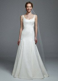 """Single tier bridal cathedral length veil with beaded metallic edge.  Coordinates with Headband HCT258, Veil VCT258S and Jewelry NCT258.  Measures 108""""L x 72""""W. Imported.Available in White and Ivory."""