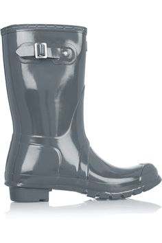 Shop Hunter Gloss Short Wellington Boots from stores. Boot Storage, Wellies Boots, Hunter Original, Wellington Boot, Grey Boots, Discount Designer Clothes, Short Boots, Fashion Outlet, Clothes For Sale
