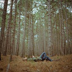 Lie down somewherel, plug earphones in, switch music on & dream.