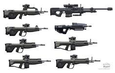 ArtStation - Halo Reach Battle Rifle, Isaac Hannaford