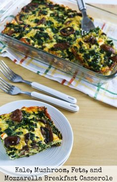 ... Spinach, Leeks, Cottage Cheese, and Goat Cheese | Breakfast Casserole