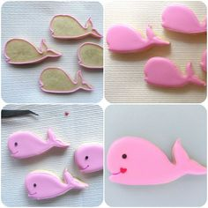 Pink Little Cake: Pink Whale Cookies