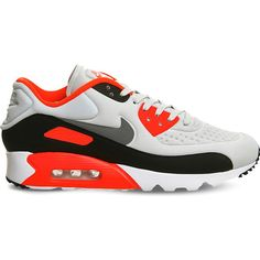 Nike Air max 90 ultra mesh trainers ($78) ❤ liked on Polyvore featuring men's fashion, men's shoes, men's sneakers, sports footwear, patterned shoes, nike footwear, mesh shoes and nike shoes