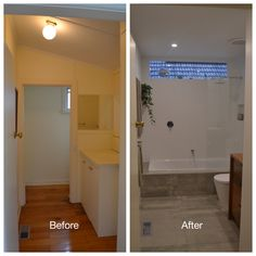 Loving our new bathroom and laundry by http://www.inlineconstructiongroup.com.au #before #after