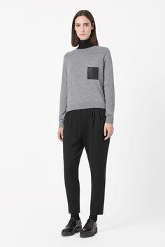 COS | Leather pocket jumper