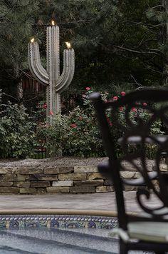Barb Wire Cactus, Saguaro, Rustic Cactus, Metal Garden Sculpture ...