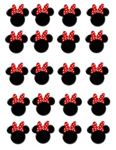 20 Waterslide Minnie Mouse Head Red Bow Nail Art Decals | eBay