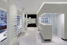 Optique Moitzheim store by  Heikaus, Belair    Luxembourg eyewear store design