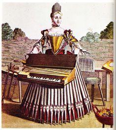 Frau eines Orgelbauers
