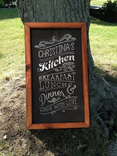 Personalized Rustic Framed Kitchen Design by TimberAndType on Etsy