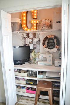 DIY Craft Closet Office -