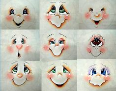 Resultado de imagem para Cute Snowman Faces to Paint Snowman Crafts, Christmas Projects, Holiday Crafts, Noel Christmas, Christmas Ornaments, Snowman Ornaments, Lightbulb Ornaments, Diy And Crafts, Arts And Crafts