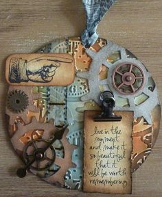 Mijn kaarten en overige knutsels (My maps and other knutsels/crazy crafts) - steampunk tag