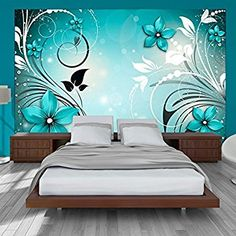 murando - Fototapete 150x105 cm - Vlies Tapete - Moderne Wanddeko - Design Tapete - Wandtapete - Wand Dekoration - Blumen Ornament b-A-0044-a-c