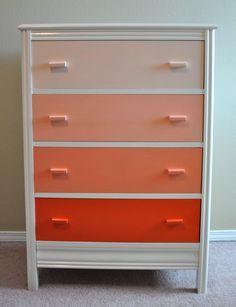 multi-color dresser