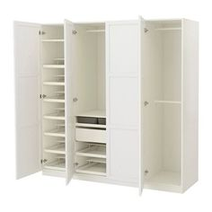 PAX Wardrobe - soft closing hinge, 200x60x201 cm - IKEA