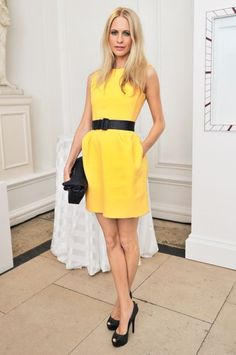 #PoppyDelevingne radiates in the perfect shade of yellow