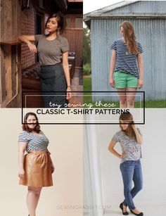 4 women's t-shirt patterns to try...