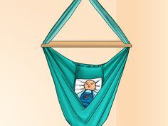 A baby hammock is a swing that you can buy in most baby supply stores, but you can also make one very easily at home for a fraction of the cost. Babies under the age of nine months enjoy lying in the hammock swing as it rocks them gently...