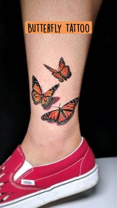 Monarch Butterfly Tattoo, Colorful Butterfly Tattoo, Butterfly Wrist Tattoo, Butterfly Tattoos For Women, Butterfly Tattoo Designs, Tattoos For Daughters, Daughter Tattoos, Lotus Tattoo Shoulder, Maori Tattoo Patterns