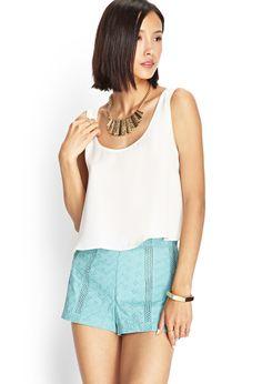 Cotton Eyelet Shorts | LOVE21 #F21Contemporary