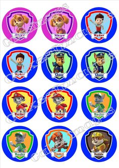 Edible Image Cake Topper Paw Patrol 12 cupcakes 2.5  by CakeImages, $7.99