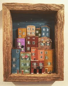 69 Likes, 3 Comments - Nika's tiny house Clay Houses, Ceramic Houses, Miniature Houses, Diy Arts And Crafts, Diy Craft Projects, Home Crafts, Arte Assemblage, Pottery Houses, Driftwood Sculpture