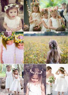 Des jolis couronnes de fleurs pour nos petites têtes blondes - Organiser un mariage