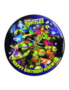 Edible Cake Cupcake Topper Decoration Image TMNT by CakersWorld Make You Up, How To Make Cake, Make It Yourself, Edible Cake Toppers, Cupcake Toppers, Edible Rice Paper, Bright Pictures, Tmnt, Icing