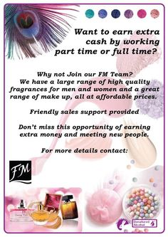We can help you start up you own FM Cosmetics business, just ask! Cheap Fragrance, Fm Cosmetics, Earn Extra Cash, Perfume, After Shave Balm, Party Needs, Event Organization, Fundraising Events, New Mums