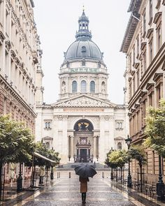 St. Peter's Basilica in the rain, Budapest