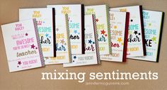 Amazing Teacher cards by Jennifer McGuire using Simon Says Stamp Exclusives.  August 2014