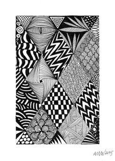Drawing patterns Source by amvwart Doodle Art Drawing, Zentangle Drawings, Easy Doodle Art, Painting & Drawing, Mandala Drawing, Zentangles, Zen Doodle, Doodle Art Designs, Doodle Patterns