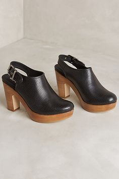 Strena Perforated Atlantic Mules #anthropologie I love clogs, and these are awesome!