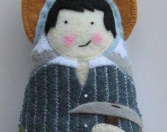 Saint Helena of the True Cross Felt Saint Softie by SaintlySilver