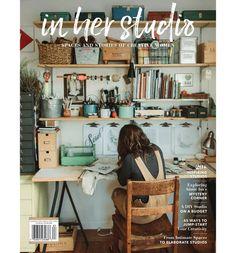 In Her Studio Premier Issue – Home Office Design For Women Design Room, Café Design, Art Studio Design, Paint Studio, Sewing Room Design, Menu Design, House Design, Home Art Studios, Art Studio At Home