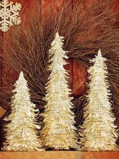 Sheet Music Christmas Trees With Wreath