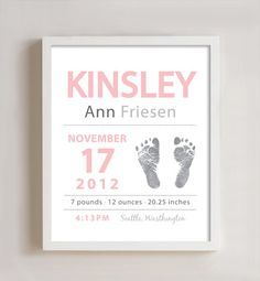 Personalized Baby Birth Print
