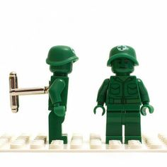 Army man Lego cufflinks