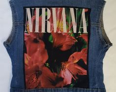 Unique rock/pop culture vest for Adults and kids! Nirvana, Pop Culture, Vest, Rock, Denim, My Love, Unique, Creative, Clothing