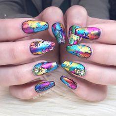 Spring foil nails