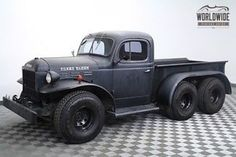 Dodge : Power Wagon 6 Wheel Power Wagon 1946 dodge power wagon rare 6 wheel one of a kind matte finish