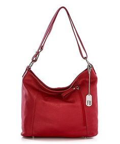 This Red Leather Hobo is perfect! #zulilyfinds